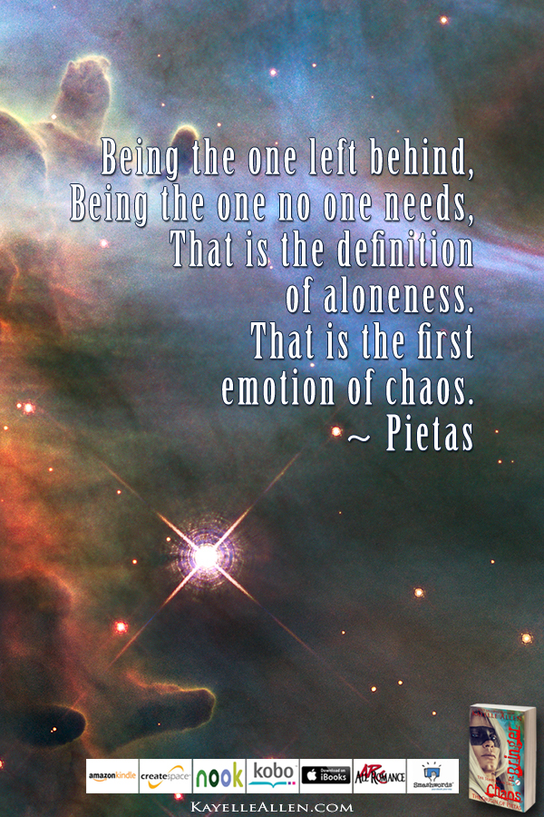 Not Esper. No Telepathy. Oh, sure... #ChaosIsComing #scifi @kayelleallen #chaos #quote