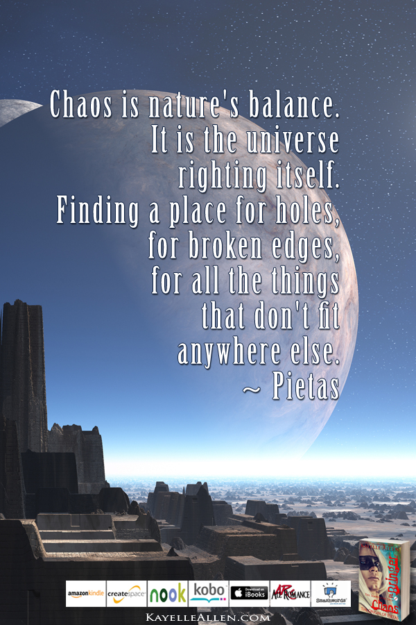 Pietas and Dessy were kids once #ChaosIsComing #scifi @kayelleallen #chaos #quote