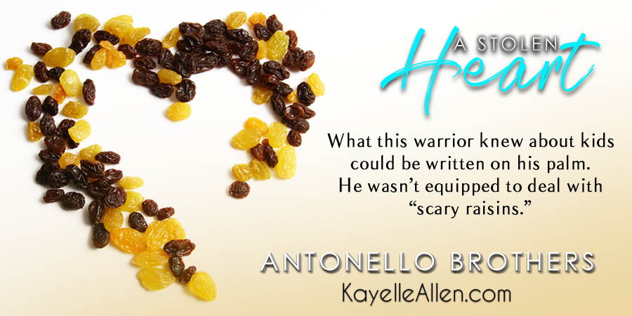 "He was not equipped to deal with ""scary raisins"" #Excerpt from A Stolen Heart by Kayelle Allen #SciFi #MFRWhooks - copy"
