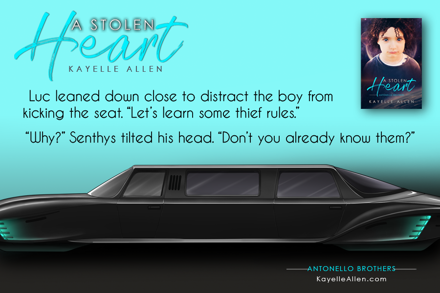 Luc explains the arcane rules of theft to a 3 yr old #Excerpt from A Stolen Heart #SciFi #MFRWhooks