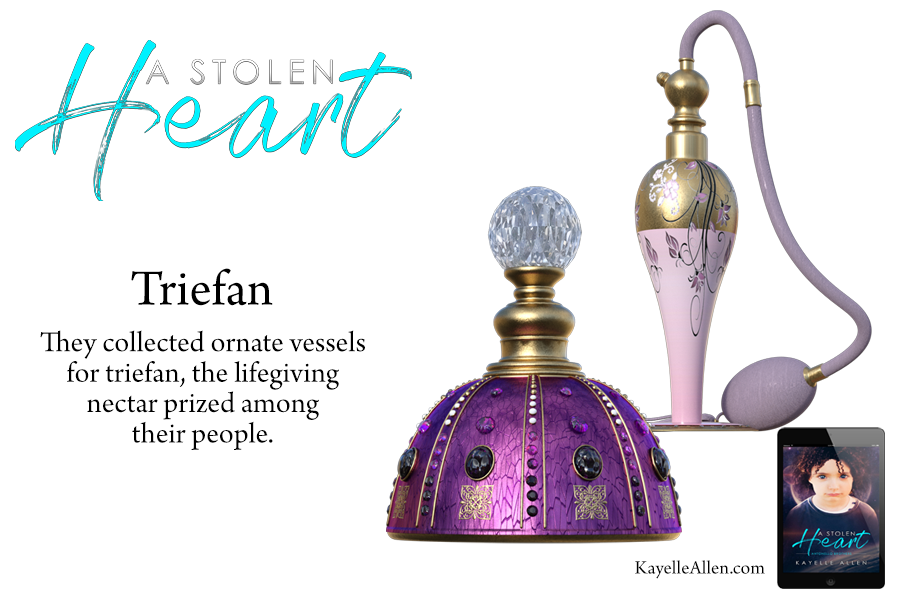 Sipping Triefan - the lifegiver #Excerpt from A Stolen Heart by Kayelle Allen #SciFi #MFRWhooks