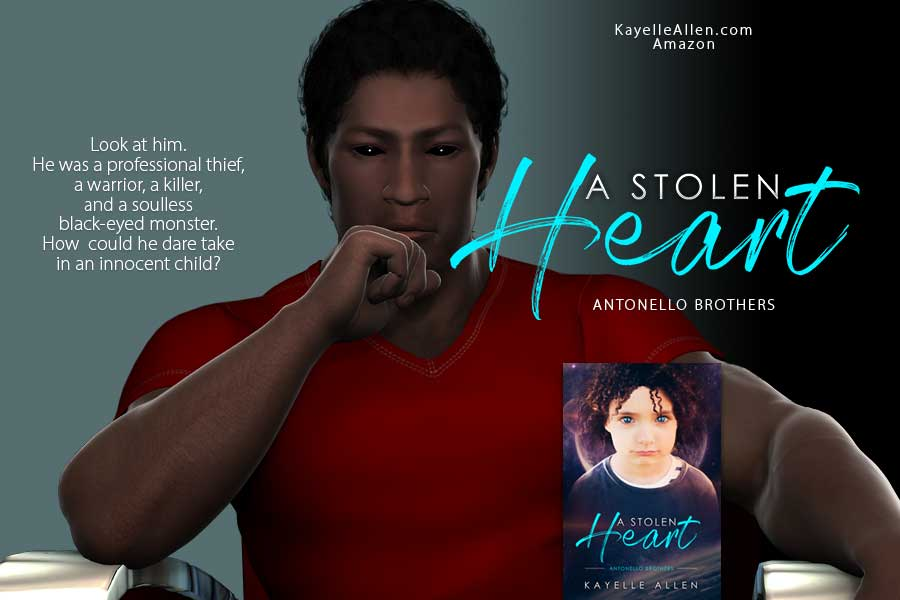 How could a killer with soulless, nightmare eyes ever care for a child? #Excerpt from A Stolen Heart #SpaceOpera #MFRWauthor