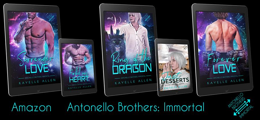 Antonello Brothers: Immortal - Because Romance Lives Forever #SciFi #WriteLGBTQ #Romance
