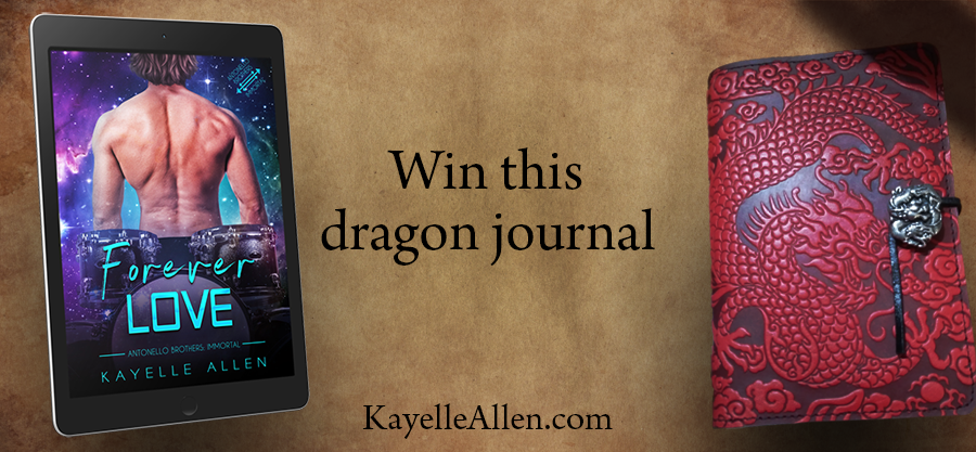 Enter to win this red leather dragon journal