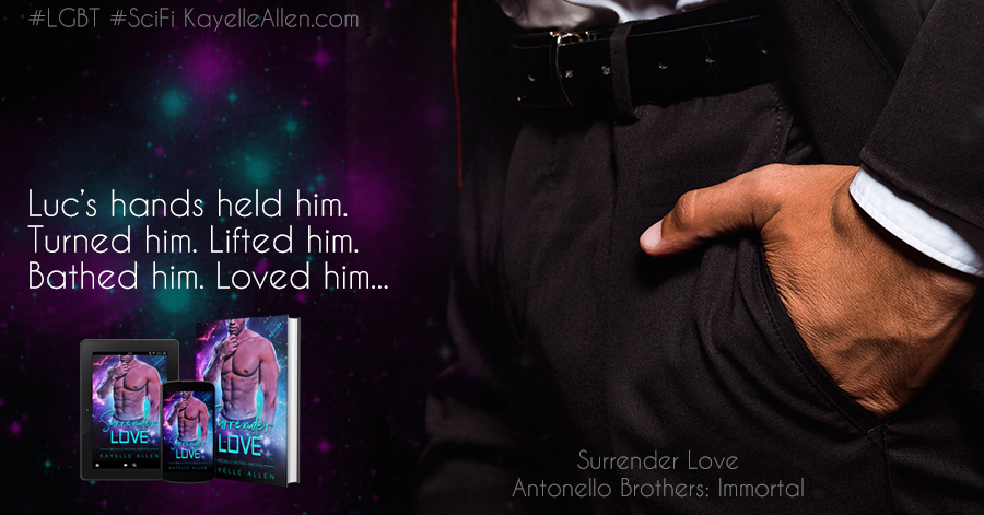 A *hot* breakfast with Luc #Excerpt Surrender Love #SciFi #MMromance #MFRWhooks