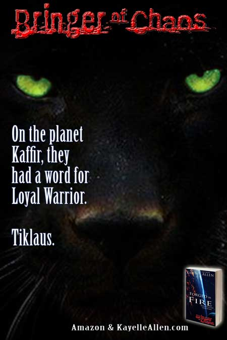 The panther tribe claimed his ferocity as their own. Bringer of Chaos #SpaceOpera #MFRWhooks
