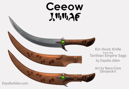 Felidae, Kin Homeworld hook knife Ceeow clan