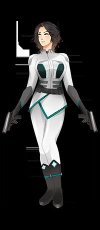 Dessy - officer. Art by Myamiiyaa for Kayelle Allen