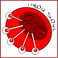 Jamin created the Iron Soul logo for the rock group in Kayelle Allen's books