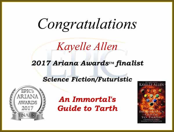 An Immortal's Guide to Tarth: Ariana Cover Award Finalist #graphicdesign #scifi #gamer
