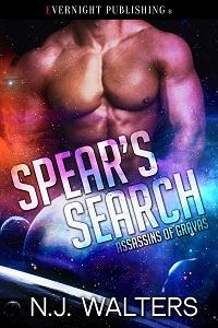 Series: Assassins of Gravas #SciFi #Romance Spear's Search by NJ Walters