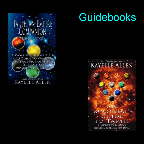 Guides to Kayelle Allen's story universe, including a full lexicon of the Kin language, Felis