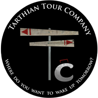Jamin created the Tarthian Tour Company logo