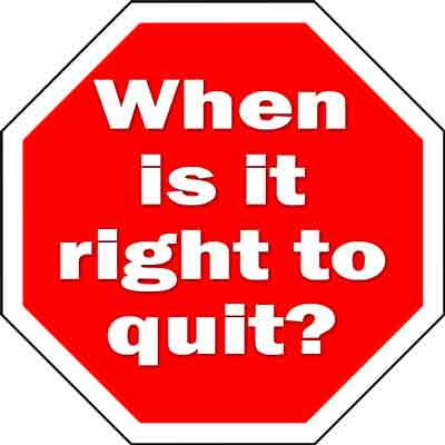 Is it right to quit? 10 times it's ok #author #entrepreneur @kayelleallen